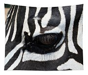 Zebra Eye Tapestry