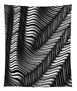 Zebra Folds Tapestry