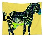 Zebra Pop Art Tapestry
