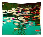 Zen Garden Water Lilies Pond Serenity And Beauty Lily Pads At The Lake Waterscene Art Carole Spandau Tapestry