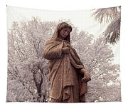 Ziba King Memorial Statue Front View Florida Usa Near Infrared Se Tapestry