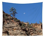Zion National Park Moonrise Tapestry
