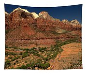 Zion White Caps Tapestry