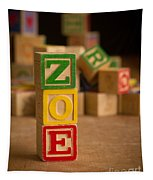 Zoe - Alphabet Blocks Tapestry