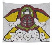 98 Kzew Radio Logo Tapestry