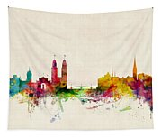 Zurich Switzerland Skyline Tapestry