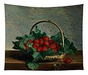 Basket Of Strawberries Tapestry