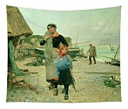 Fisherfolk Returning With Their Nets Tapestry