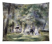 In The Park At Saint-cloud Tapestry
