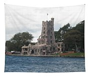 Island Castle Tapestry