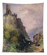 The Castle Of Katz On The Rhine Tapestry