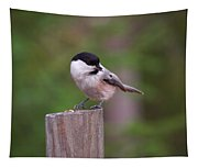 Willow Tit With Seeds Tapestry