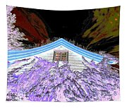A Flowery House In Norway Tapestry