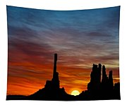 A New Day At The Totem Poles Tapestry