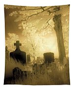 Abandoned And Overgrown Cemetery Tapestry