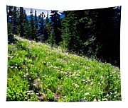 Alpine Meadow Vii At Mount Rainier Tapestry