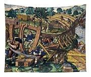 America: Shipbuilding, C1594 Tapestry