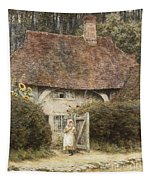 At The Cottage Gate Tapestry