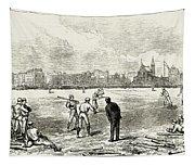 Baseball: England, 1874 Tapestry