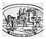 Baseball Game, 1820 Tapestry