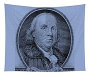 Ben Franklin In Cyan Tapestry