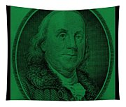 Ben Franklin In Dark Green Tapestry