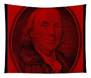 Ben Franklin In Red Tapestry