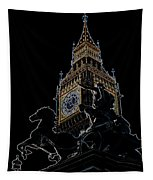 Big Ben And Boudica Statue Tapestry