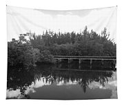 Big Sky On The North Fork River In Black And White Tapestry