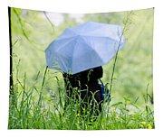 Blue Umbrella Tapestry