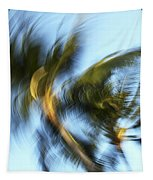 Blurred Palm Trees Tapestry