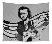 Clapton In Black And White Tapestry
