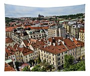Clock Tower View - Prague Tapestry