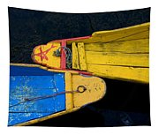Colorful Boats, Srinagar, Dal Lake Tapestry