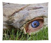 Eye Of A Dinosaur Lightning Tapestry