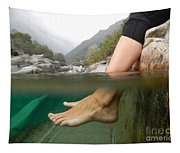Feet Under The Water Tapestry