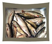 Fine Catch Of Trout Tapestry