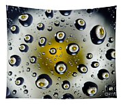 Flowers In Water Drops Tapestry