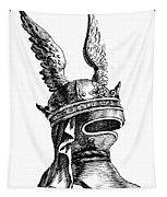 French Medieval Helmet Tapestry