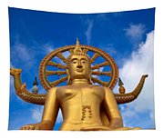 Golden Buddha Tapestry