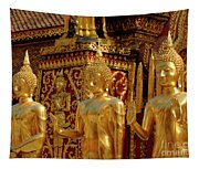 Golden Buddhas Tapestry