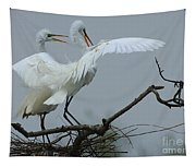 Great Egret Pair Tapestry