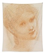 Head Study Of A Girl Tapestry