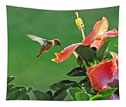 Hibiscus Hummer Tapestry