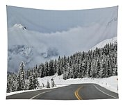 Highway 40 In Winter, Highwood Pass Tapestry