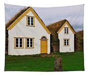 Icelandic Turf Houses Tapestry