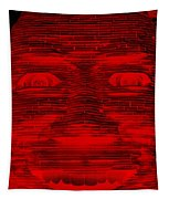 In Your Face In Negative Red Tapestry