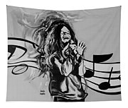 Janis In Black And White Tapestry