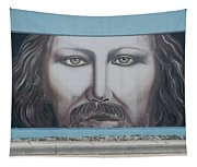 Jesus On The Street Tapestry