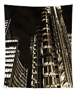 Lloyds Building London In Gold Tapestry